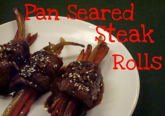 Pan Seared Steak Rolls - Sweet Love and Ginger