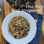 One Pan Beef Stroganoff