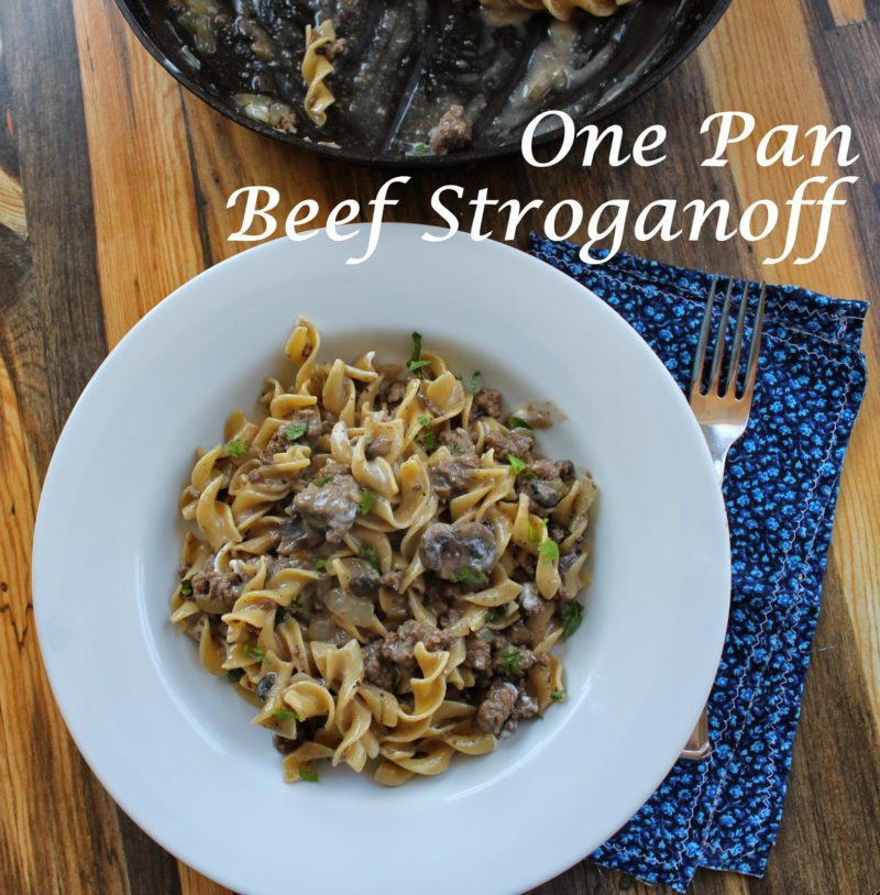 One Pot Ground Beef Stroganoff