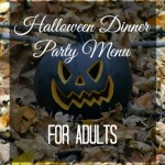 Halloween Dinner Party Menu for Adults