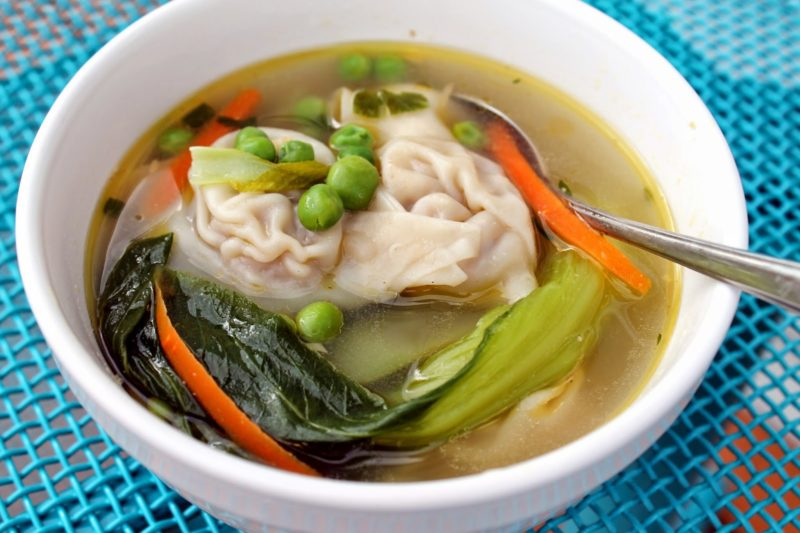 Wonton Soup with Vegetables