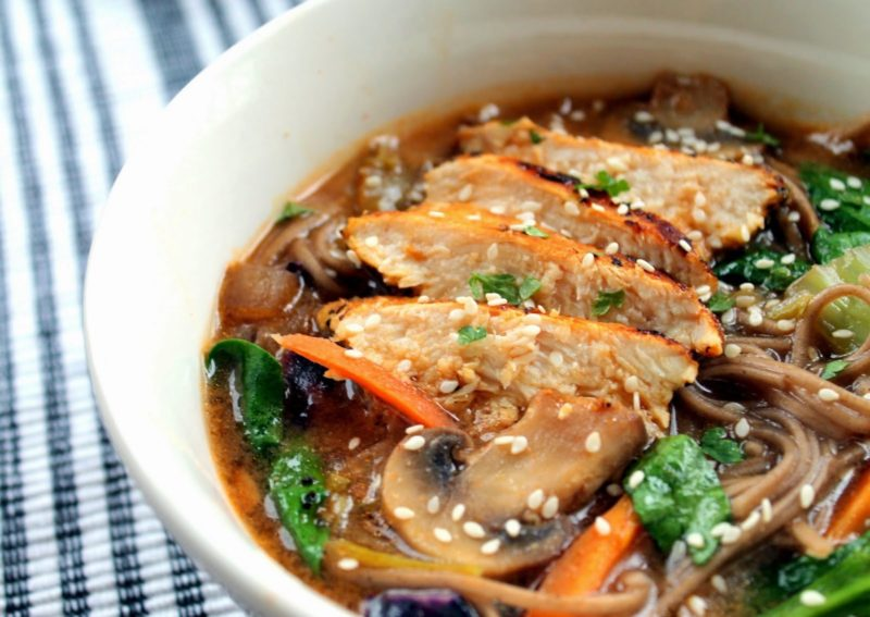 Panera's Soba Noodle Broth Bowl Recipe with chicken