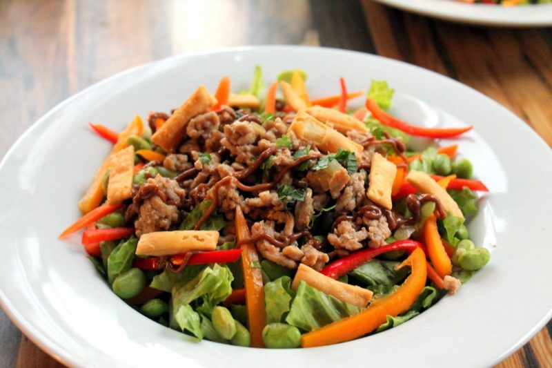 Thai Ground Chicken Salad with Peanut Sauce Recipe