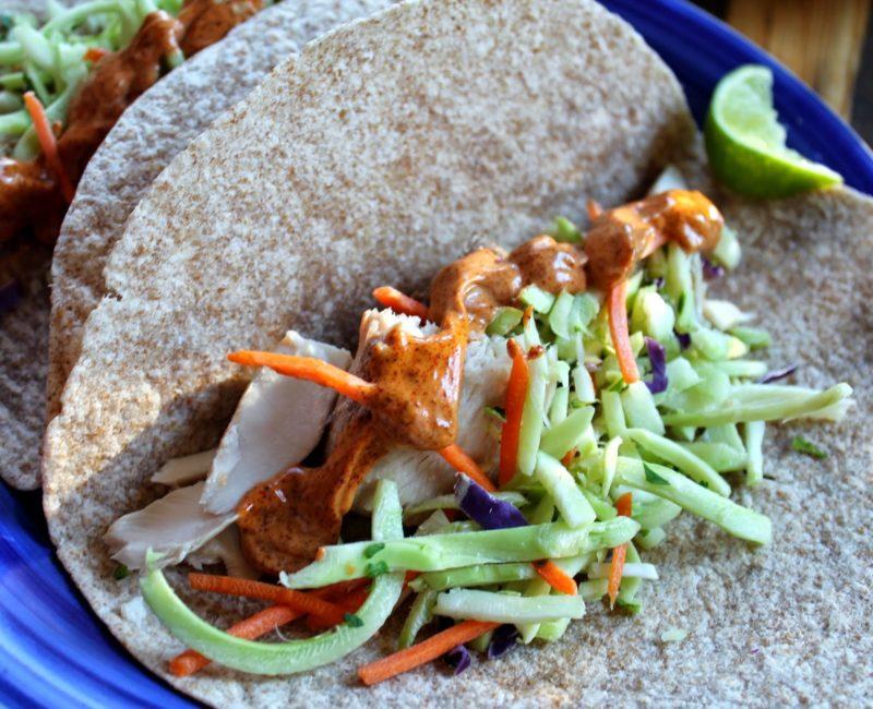Mahi mahi fish tacos with easy chipotle mayo for Fish taco sauce mayo