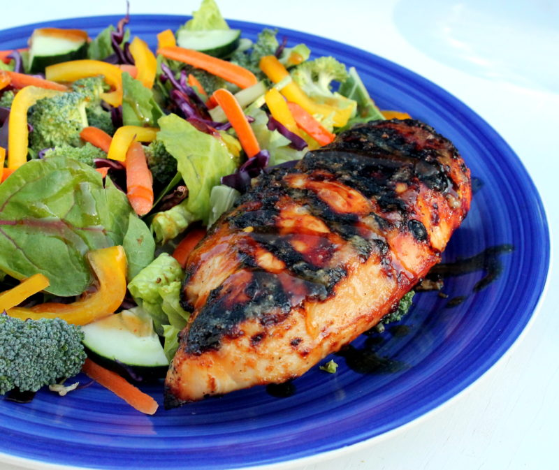 Sweet Chili Grilled Chicken Salad
