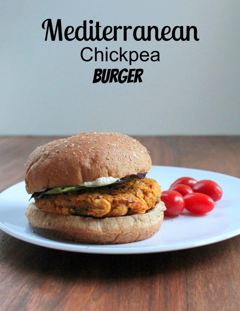 Mediterranean Chickepea Burger
