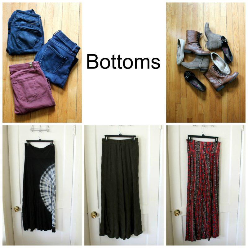 Capsule Wardrobe Bottoms