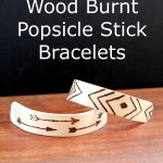 Wood Burnt Popsicle Bracelets