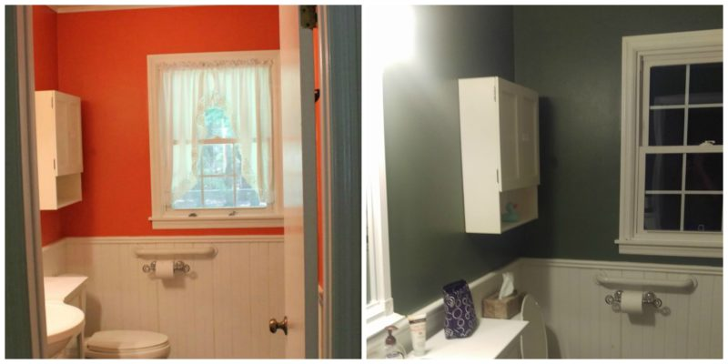 I Painted The Bright Orange Bathroom. This Came With Some Controversy,  Because A Number Of People Really Liked The Color. Hell I Actually Liked  The Color.