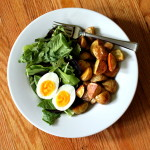 Roasted Potatoes w Greens & Egg