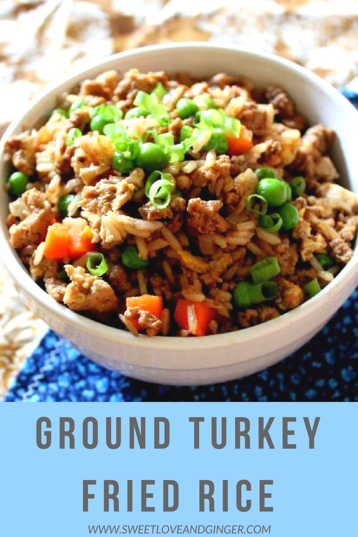 Ground Turkey Fried Rice - A fast and healthy recipe.