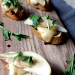 Pear & Brie Toasts