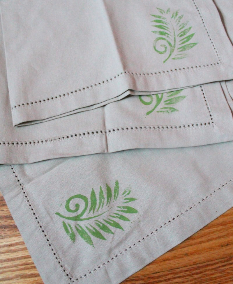 Hand Stamped Linen