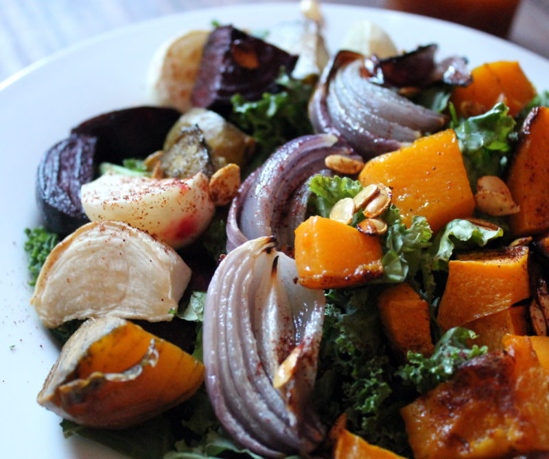 Maple Chipotle Winter Roast Veggies