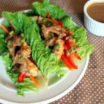 Satay Style Chicken Lettuce Wraps