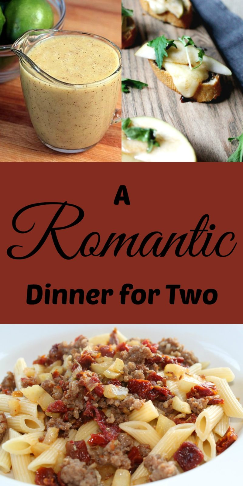A romantic dinner for two for Quick romantic dinner ideas for two