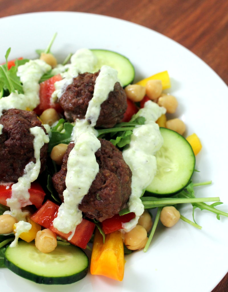 Kofta Meatballs with Tzatziki