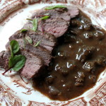 Venison Steak with Mushroom Sauce