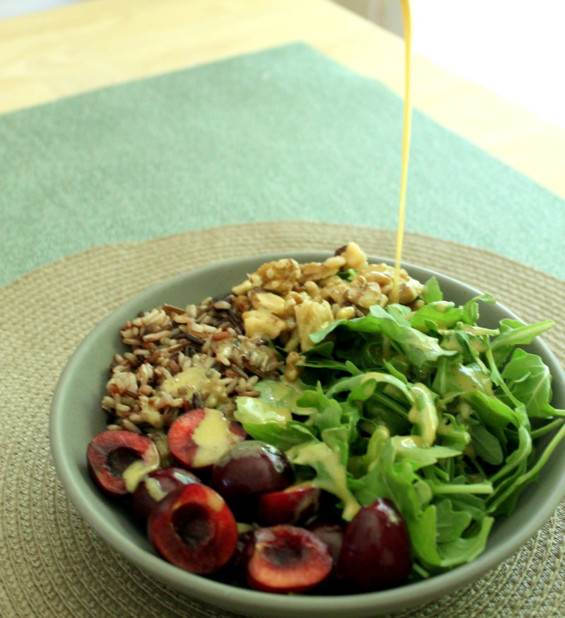 Cherry Arugula & Wild Rice Salad