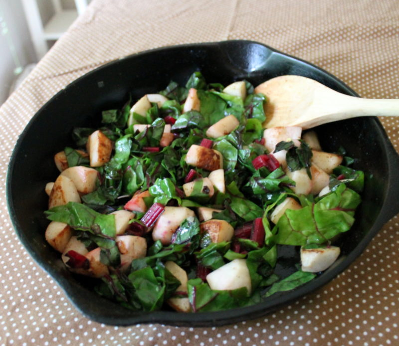 Sauted Swiss Chard with Turnips