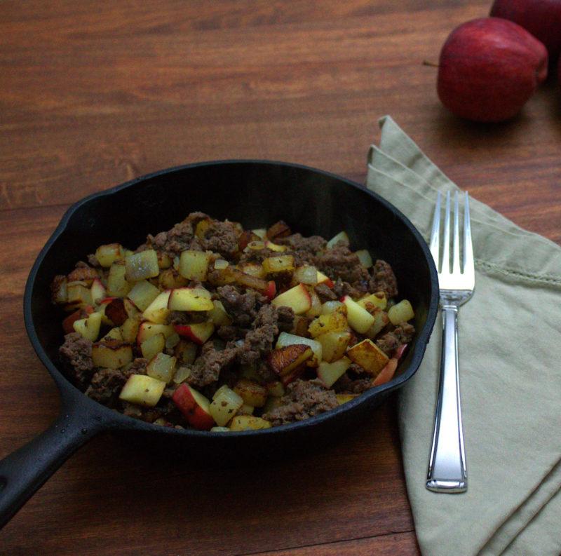 Venison Sausage Hash with Potatoes & Apples