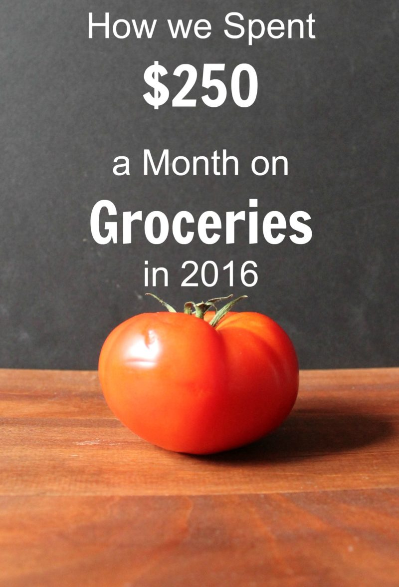 $250 a Month on Groceries
