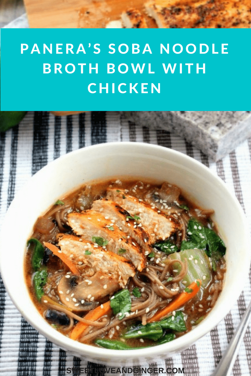 Panera's Soba Noodle Broth Bowl with Chicken
