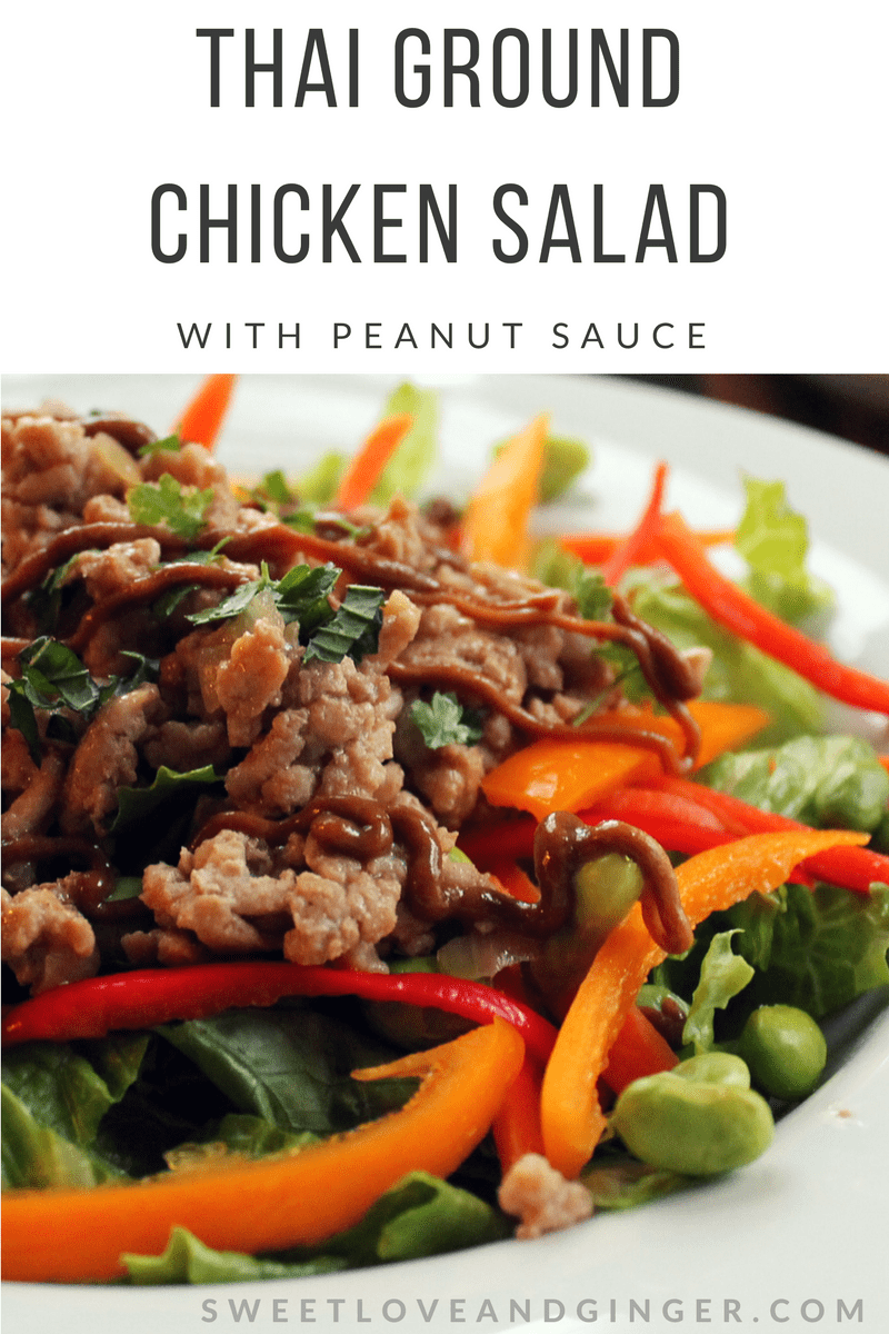 Thai Ground Chicken Salad with Peanut Sauce