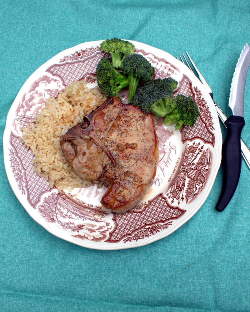 Ginger Honey Glazed Pork Chops