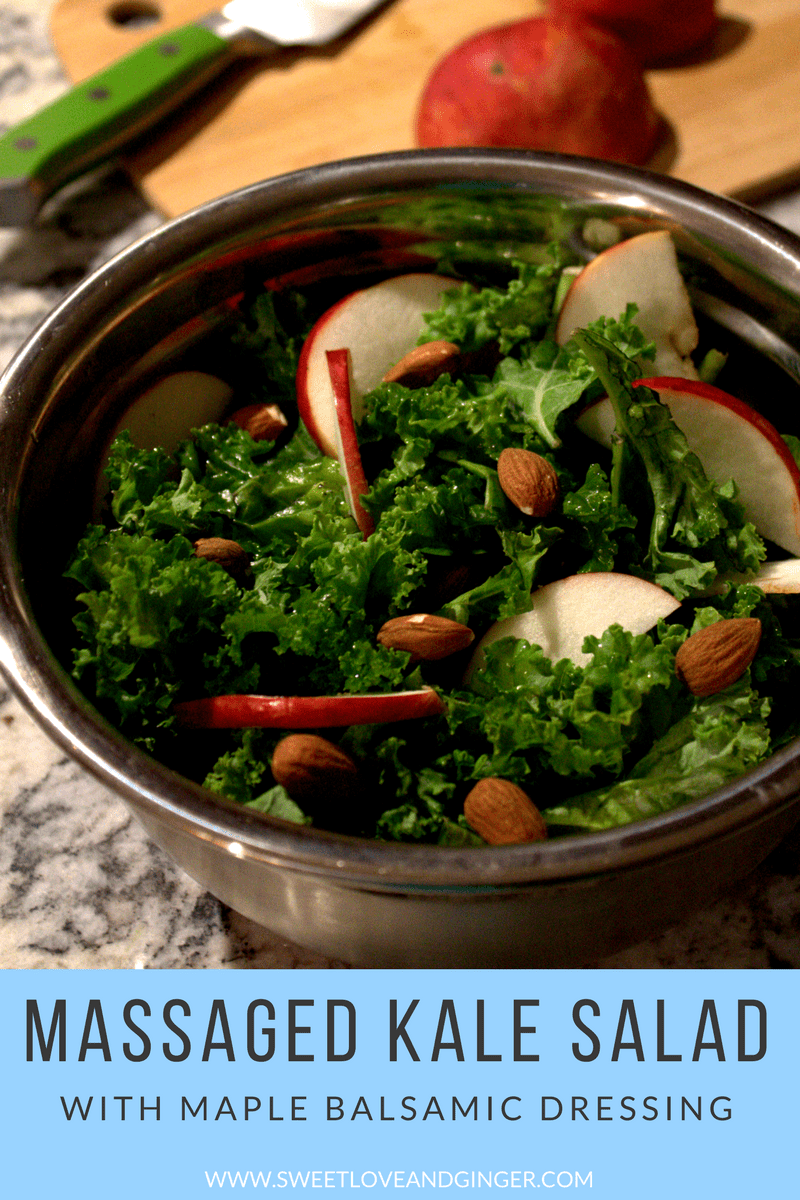 Massaged Kale Salad with Maple Balsamic Dressing