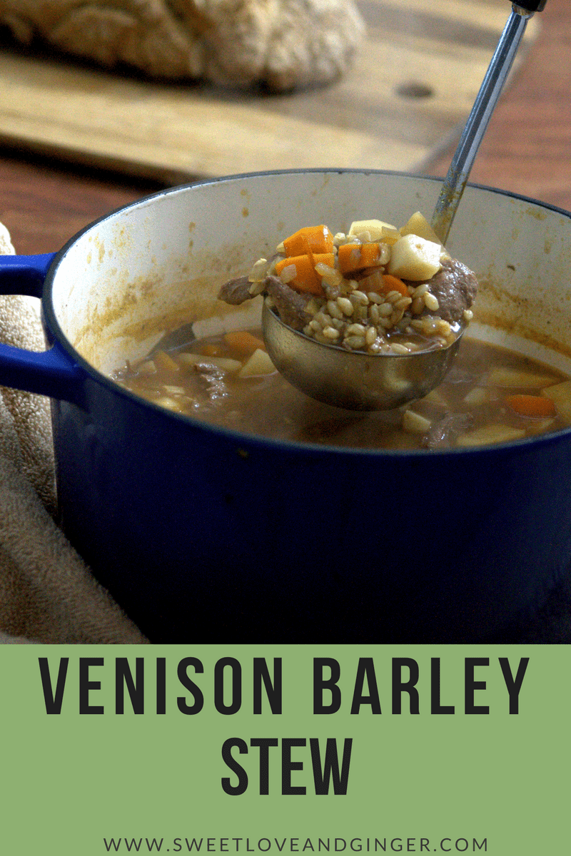 Venison Barley Stew - made quickly and easily for a chilly winter night.