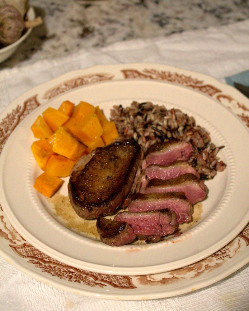 Seared Wood Duck Maple Pan Sauce