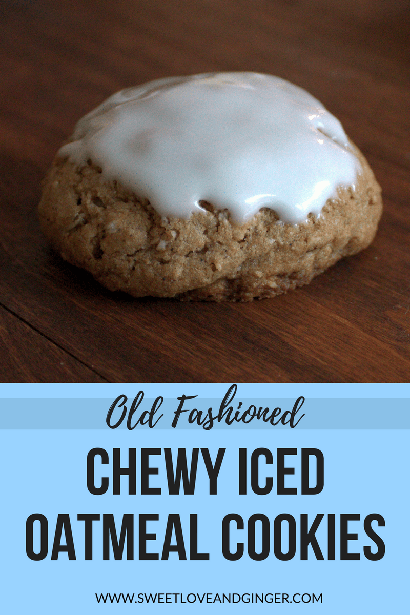Old Fashioned Chewy Iced Oatmeal Cookies