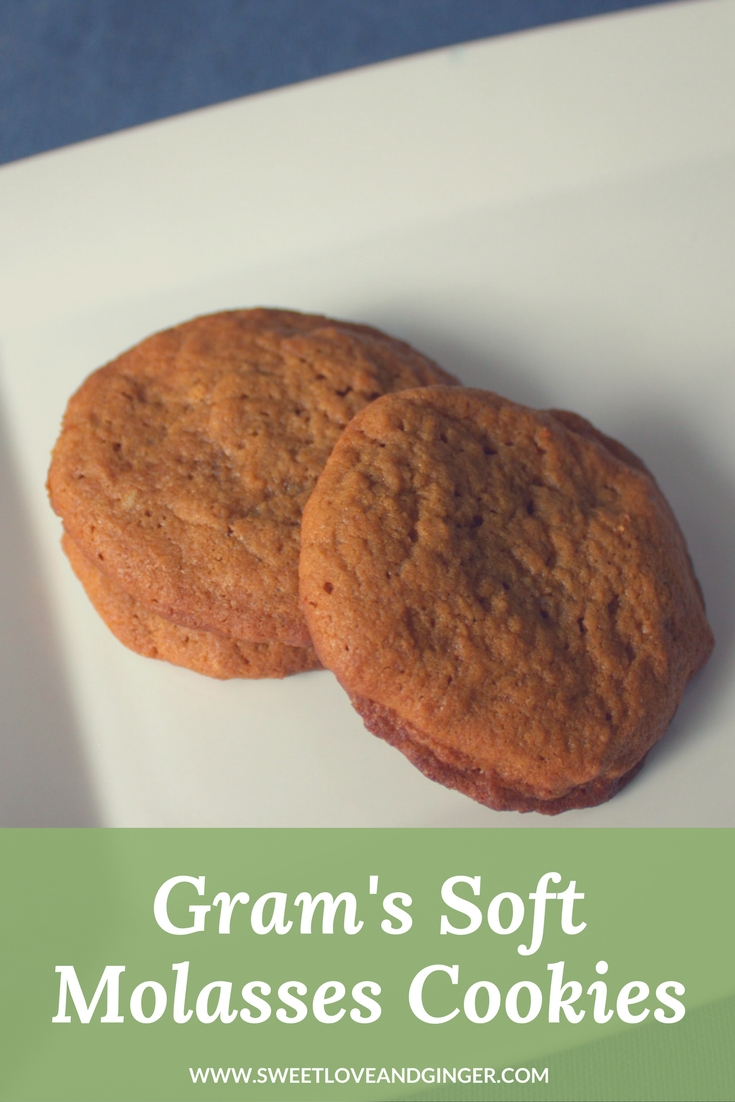 Gram's Soft Molasses Cookies - A recipe for old fashioned molasses cookies.