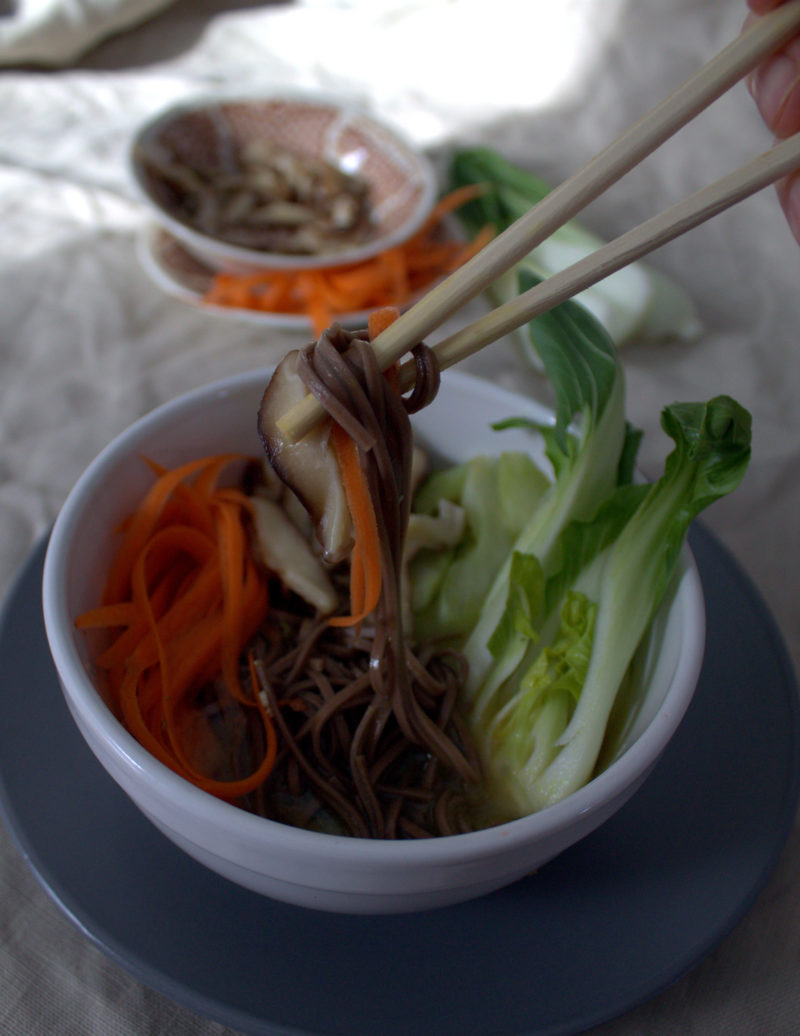 Restorative Soba Noodle Broth Bowl Recipe