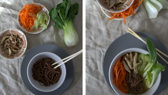Restorative Soba Noodle Broth Bowl staging