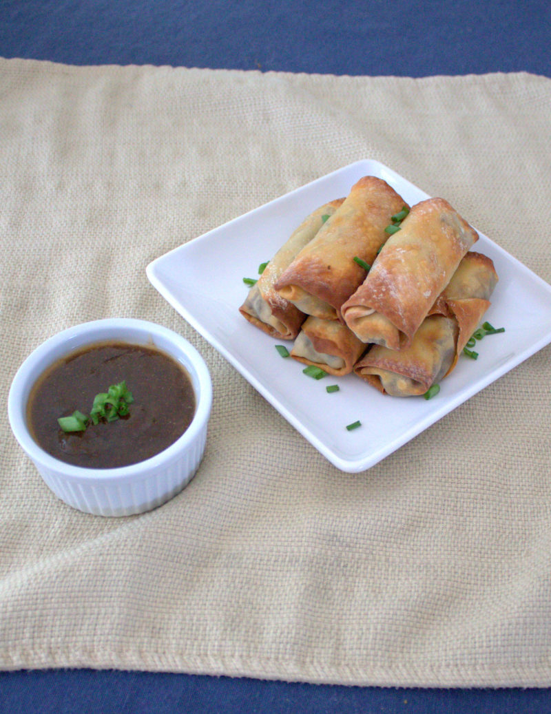 Baked Veggie Egg Rolls with Duck Sauce