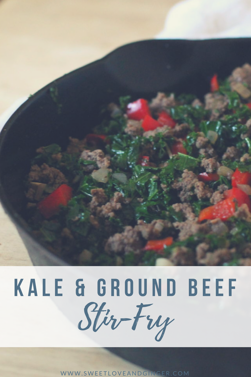 Kale and Ground Beef Stir-Fry