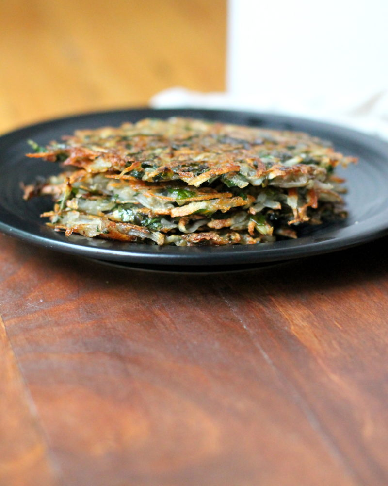 2 Ingredient Kale & Potato Latkes