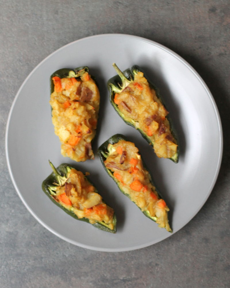 Samosa Stuffed Peppers
