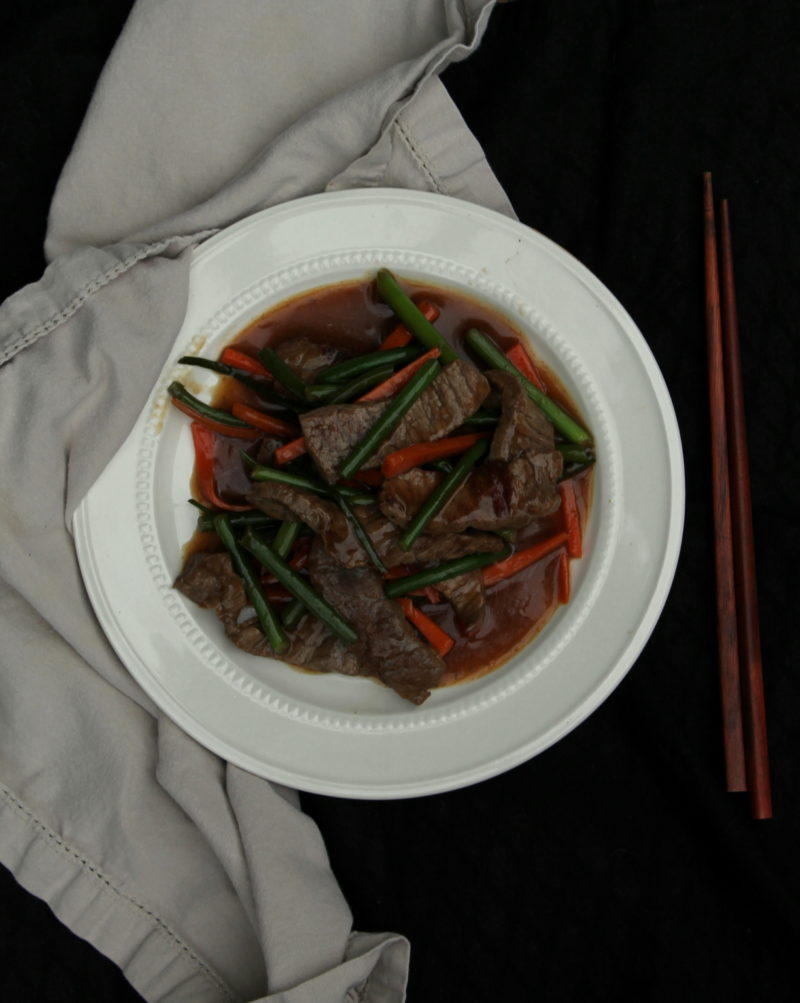 Garlic Scape and Beef Stir-fry